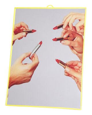 Miroir Toiletpaper / Lipsticks - Medium H 30 cm - Seletti jaune en matière plastique