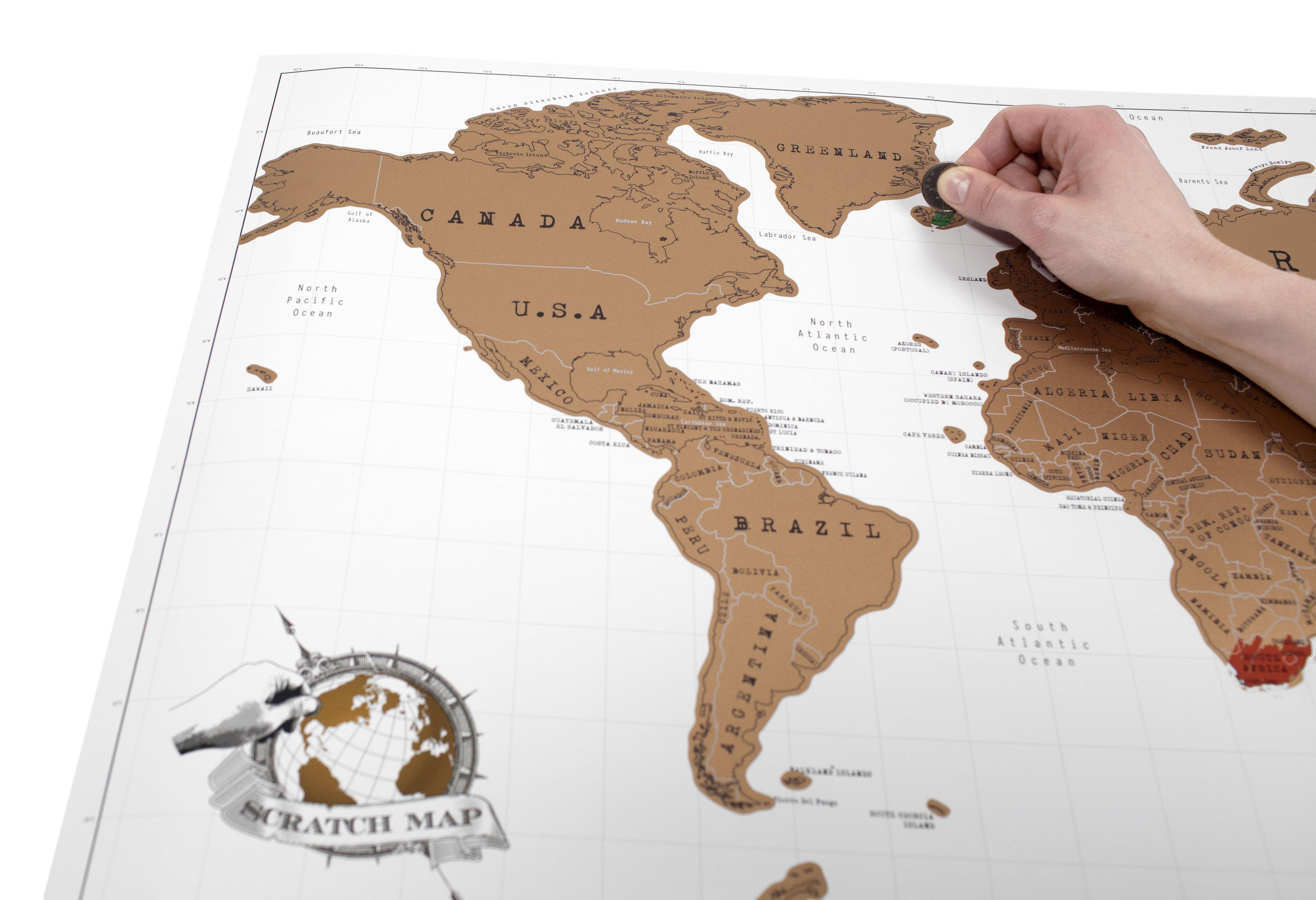 poster scratch map carte du monde gratter 82 x 58 cm. Black Bedroom Furniture Sets. Home Design Ideas