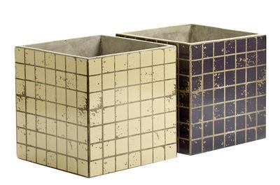 Pot Marie Mosaïque / 22x22 cm - Set de 2 - Serax noir,beige en céramique
