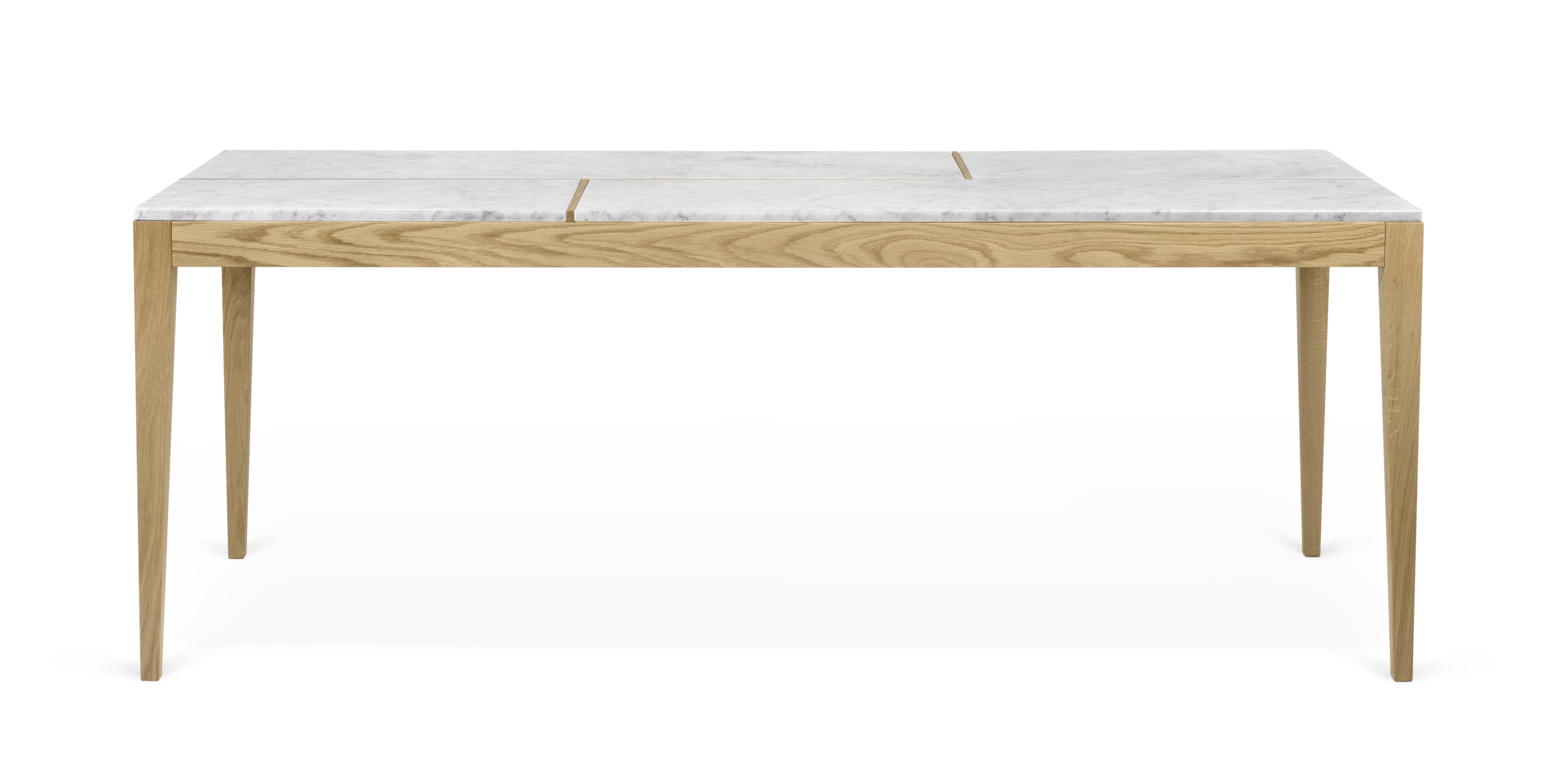 table board marbre l 201 cm marbre blanc ch ne pop up home. Black Bedroom Furniture Sets. Home Design Ideas