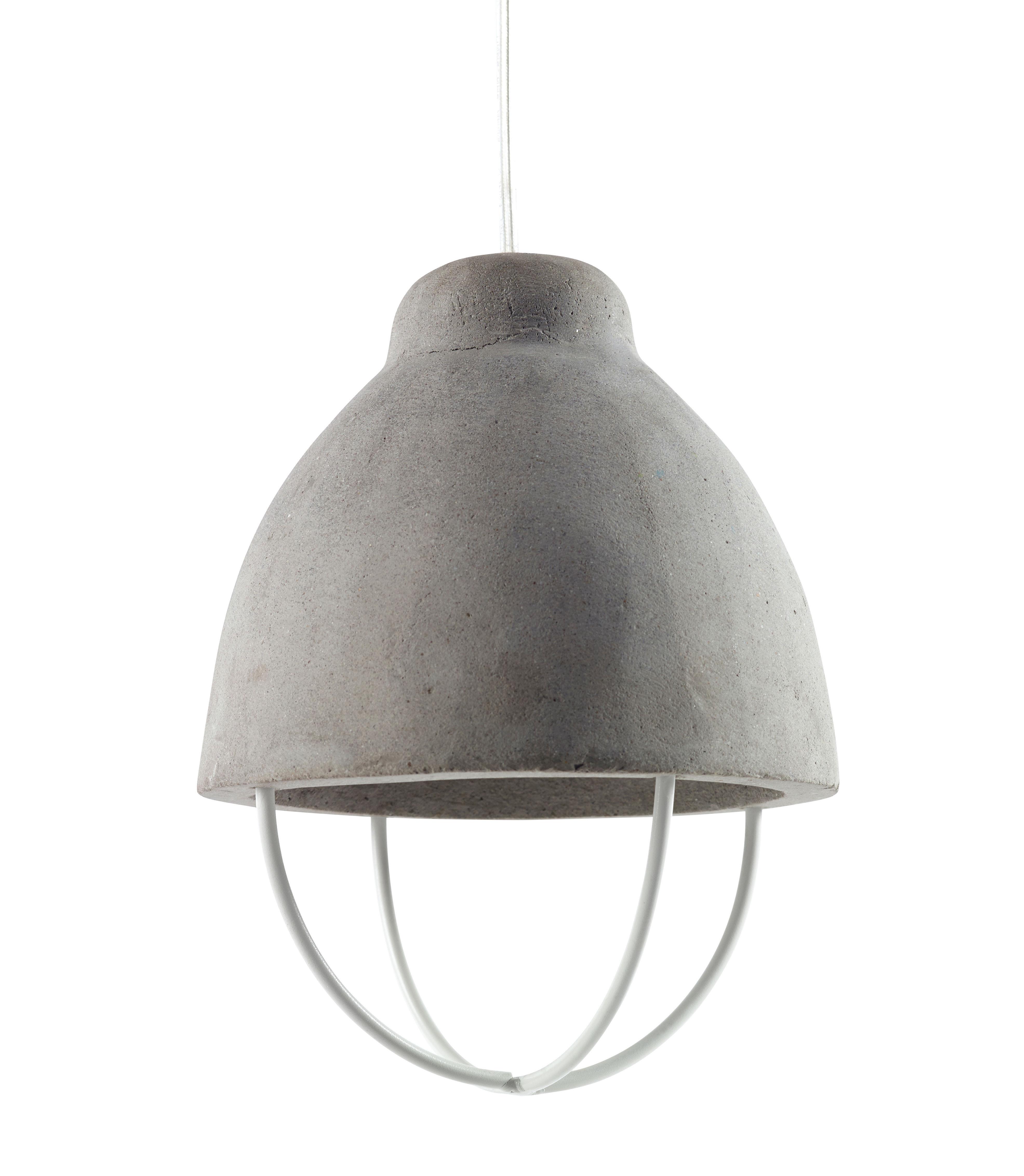 Suspension feeling b ton m tal b ton gris m tal for Suspension luminaire plusieurs ampoules
