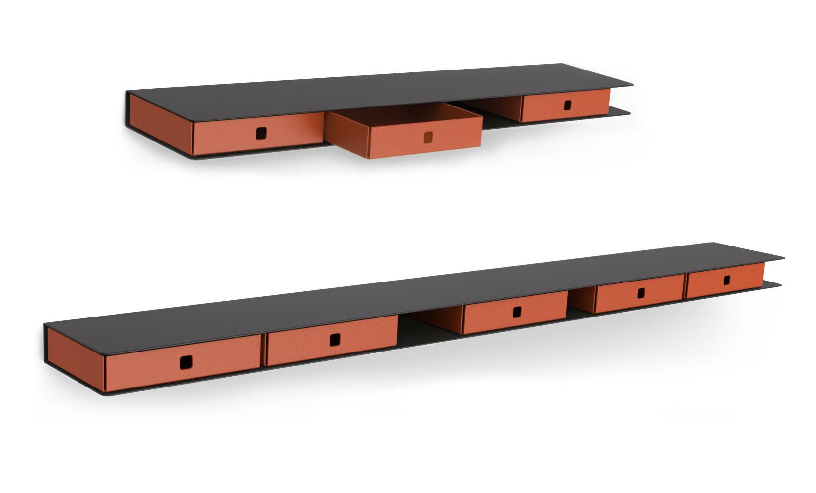 etag re aliz 4 tiroirs l 120 cm anthracite tiroirs orange mati re grise. Black Bedroom Furniture Sets. Home Design Ideas