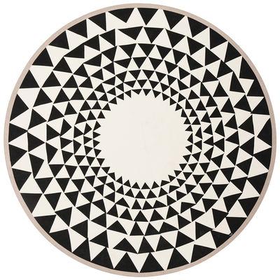 Tapis Triangle / Pour sapin de Noël - Ø 120 cm - Ferm Living blanc,noir,rose pâle en tissu