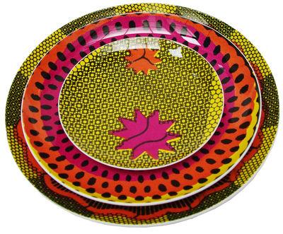 Arts de la table - Assiettes - Assiette Wax / Lot de 3 - Sentou Edition - Shell - Multicolore - Mélamine