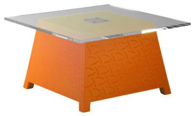 Tavolino Raffy di Qui est Paul ? - Arancione - Materiale plastico