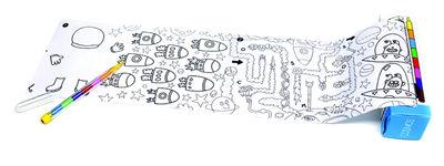Déco - Pour les enfants - Set Pocket Games Cosmos / 1 m de jeux & coloriage + Crayon 8 mines - OMY Design & Play - Cosmos / Noir & Blanc - Papier