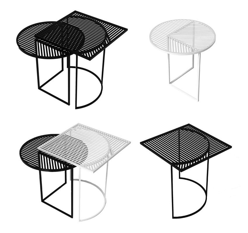 Iso a coffee table black by petite friture - Petite friture design ...