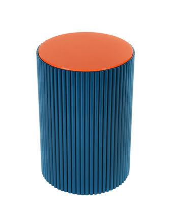 Riviera Beistelltisch / mit Rattan - L 35 cm x H 52 cm - Maison Sarah Lavoine - Koralle,Blue Sarah