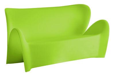 Foto Sofà Lily - 3 posti - L 179 cm di MyYour - Verde opaco - Materiale plastico