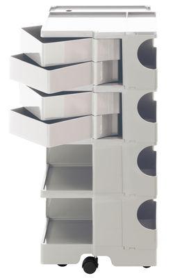 Desserte Boby / H 94 cm - 4 tiroirs - B-LINE blanc en matière plastique