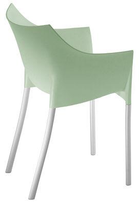 Poltrona impilabile Dr. No di Kartell - Verde chiaro - Materiale plastico