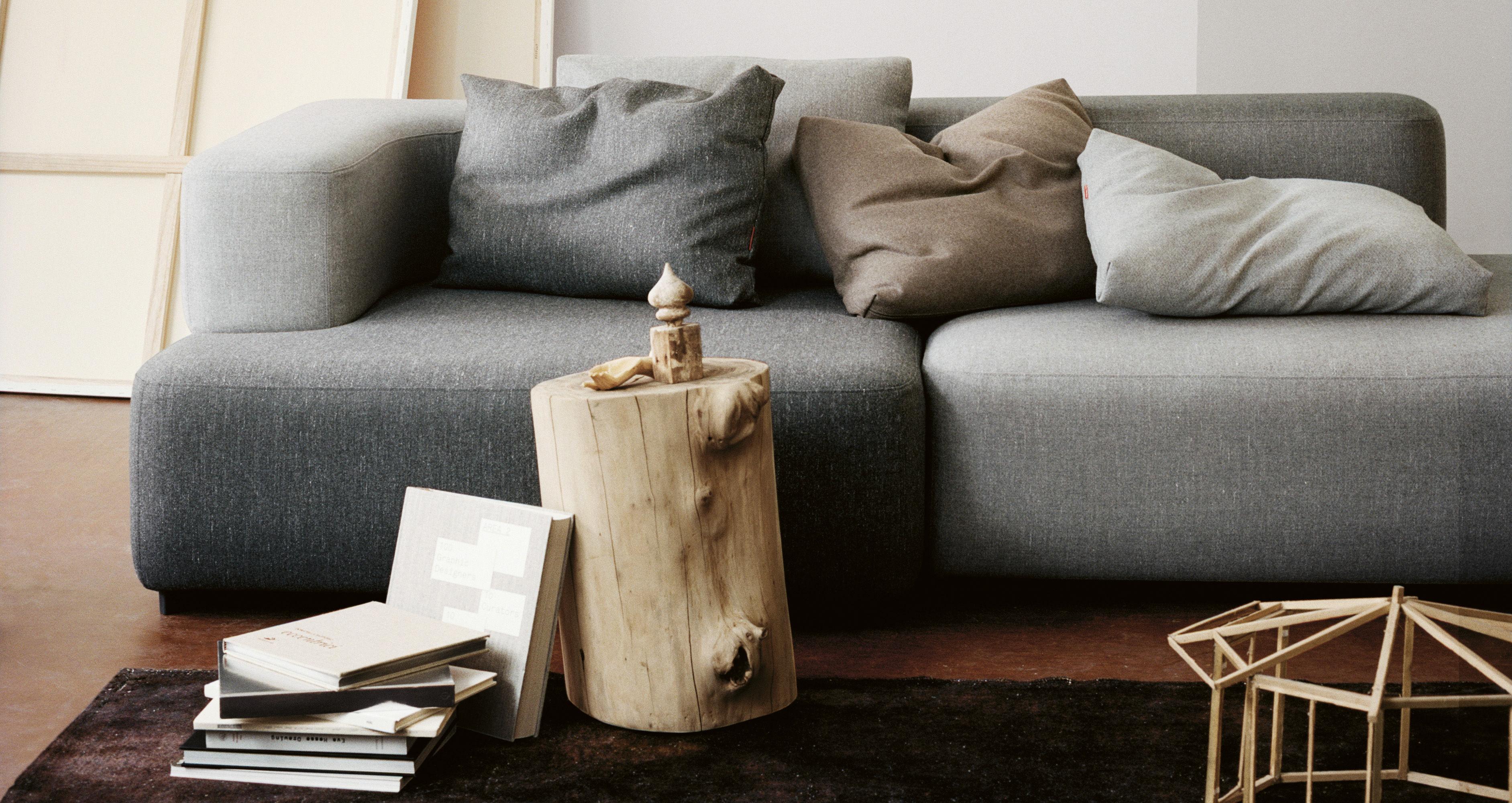 canap droit alphabet modulable 2 places l 210 x p 120 cm gris fonc fritz hansen. Black Bedroom Furniture Sets. Home Design Ideas