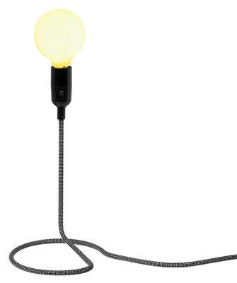 Luminaire - Lampes de table - Lampe de table Cord Lamp - Design House Stockholm - Cordon blanc & noir - Acier, Coton