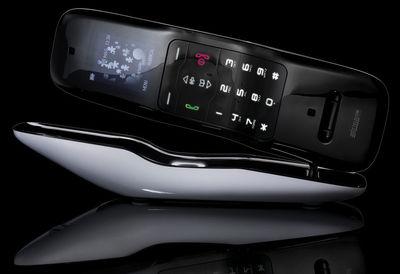 T l phone alessiphone sans fil ext rieur blanc for Telephone interieur sans fil