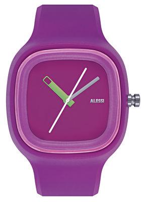 Montre Kaj version unie Alessi Watches violet en matière plastique