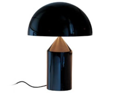 Lighting - Table Lamps - Atollo Table lamp by O luce - Black - Varnished aluminium