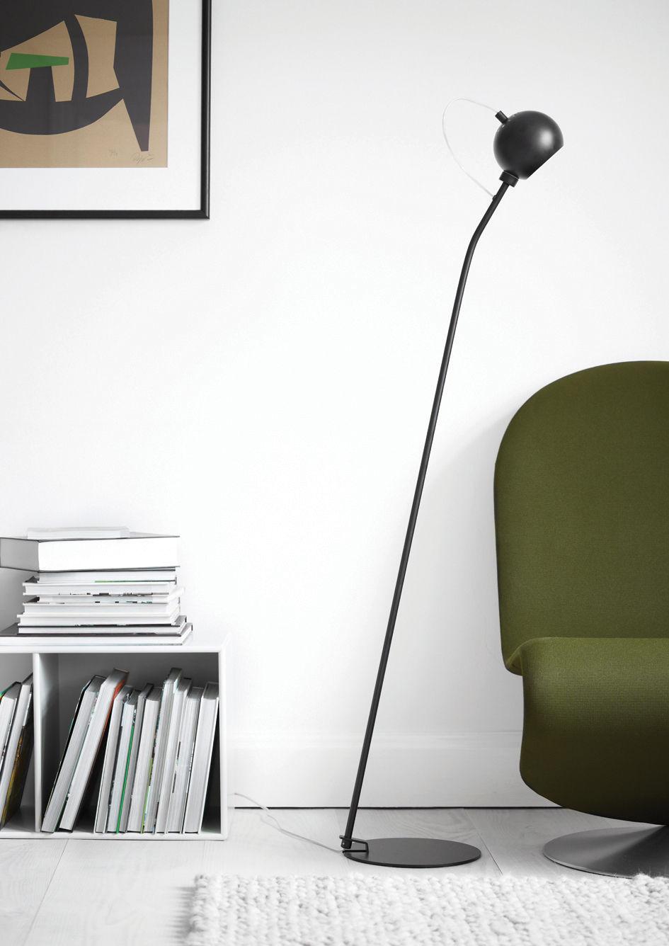 ball g9 floor lamp copper by frandsen. Black Bedroom Furniture Sets. Home Design Ideas