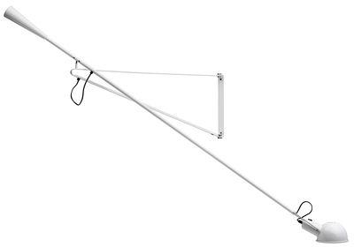 Foto Applique 265 - / L 205 cm - Modello del 1973 di Flos - Bianco - Metallo