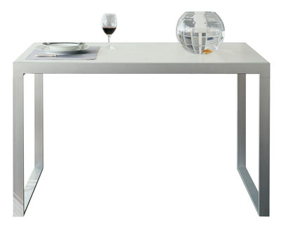 Maison et Objet - Minimalisme - Table à rallonge Wow! Plus / L 140 à 220 cm - Horm - Blanc - Acier laqué, Laminé