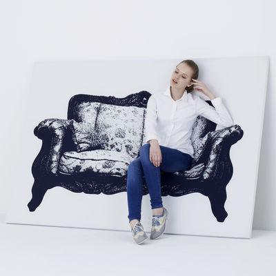 Mobilier - Bancs - Banquette Canvas / Tableau trompe-l'œil - L 200 cm - Innermost - Noir & blanc - Bois massif, Lycra