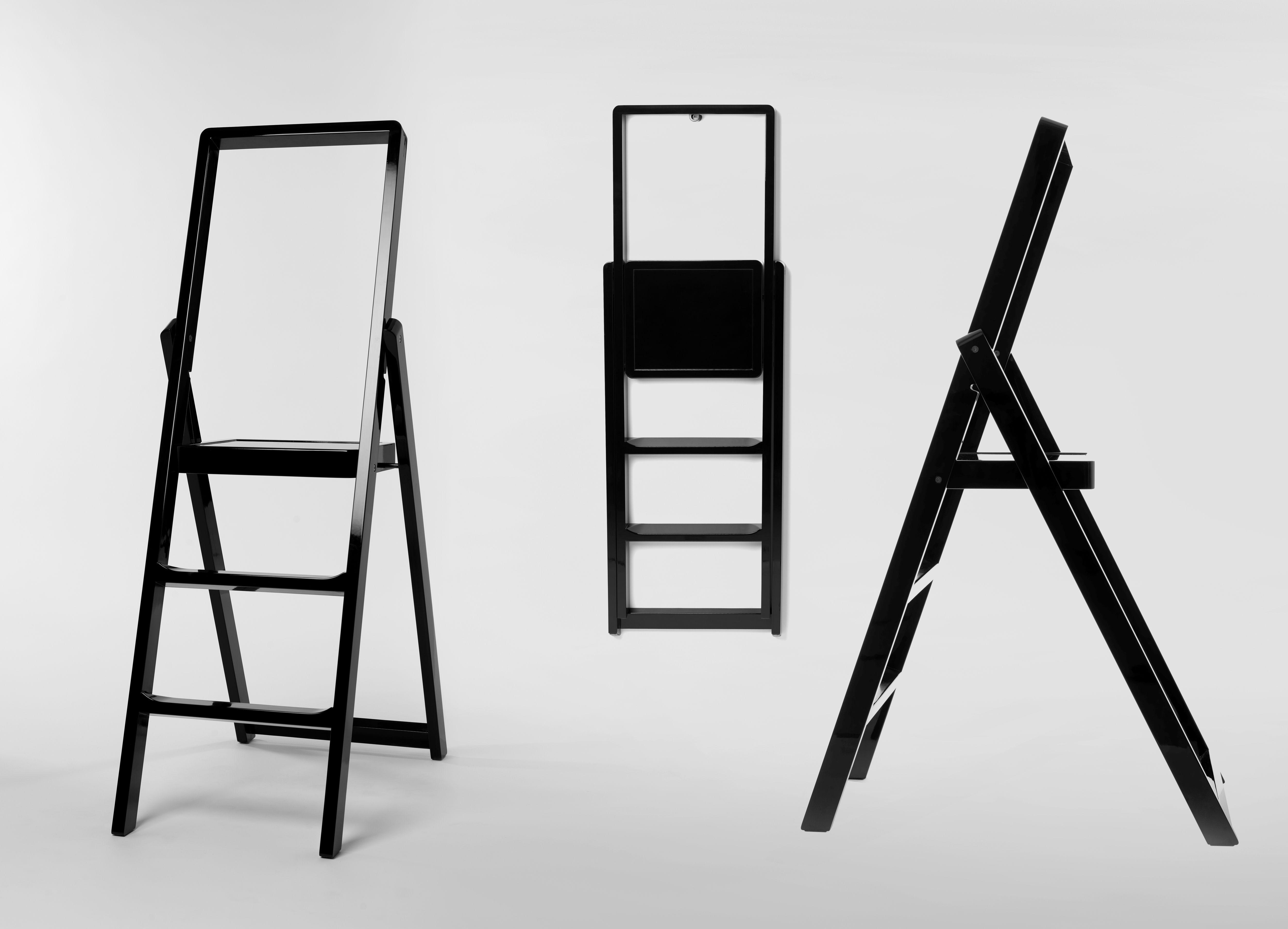 Step Stepladder Foldable Black By Design House Stockholm