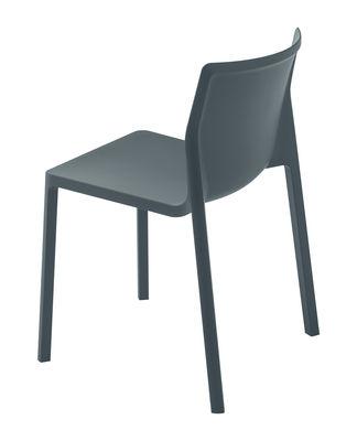 Mobilier - Chaises, fauteuils de salle à manger - Chaise empilable LP / Polypropylène renforcé - Kristalia - Gris mat - Polypropylène renforcé
