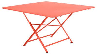 Table pliante Cargo 128 x 128 cm Fermob capucine en métal