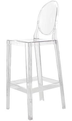 Chaise de bar One more / H 75cm - Plastique - Kartell cristal en matière plastique