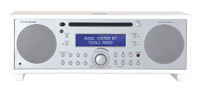 Radio réveil Music System BT Lecteur CD Bluetooth Tivoli Audio blanc,argent en bois