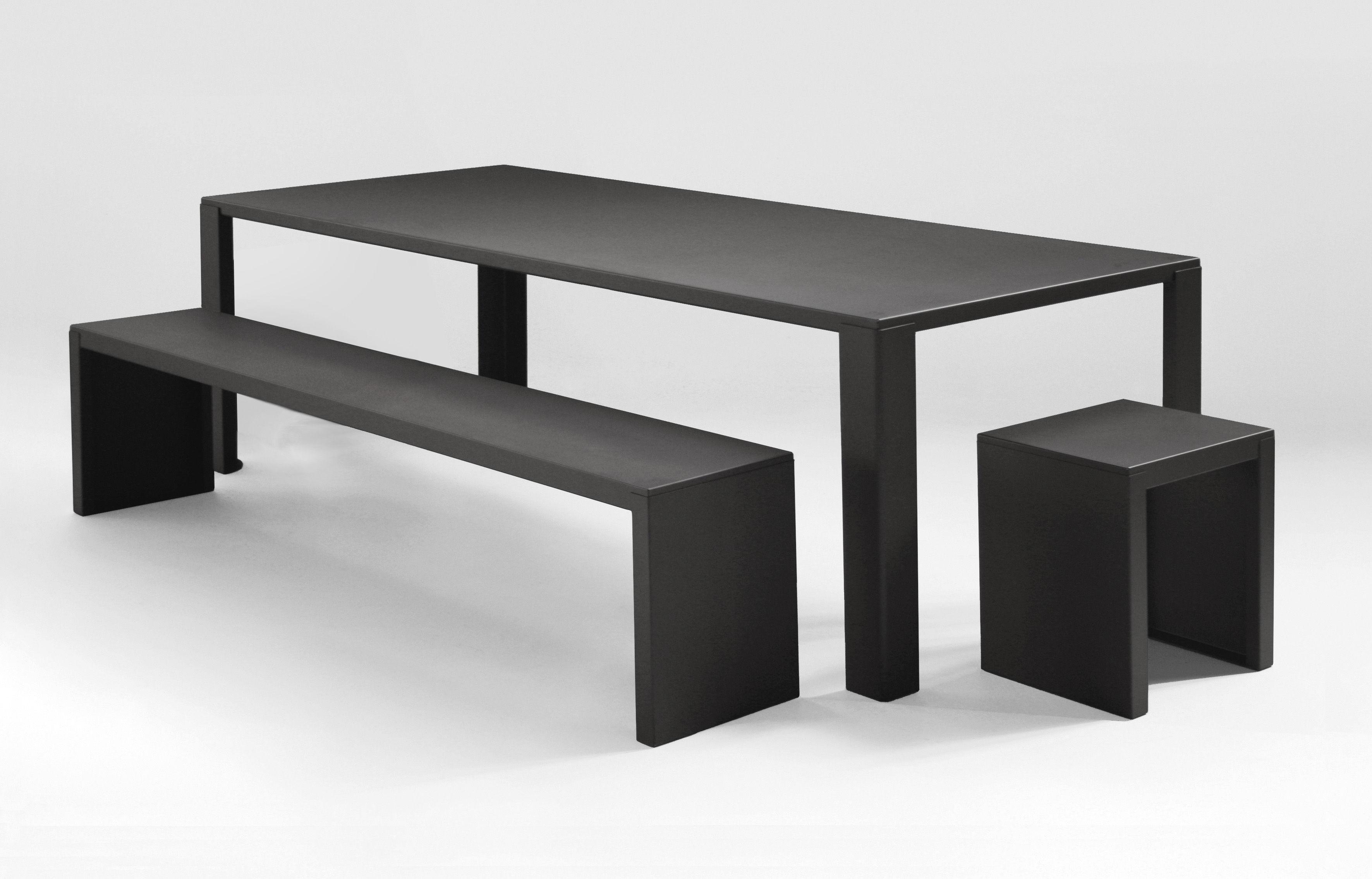table de jardin big irony outdoor l 200 cm gris chaud zeus. Black Bedroom Furniture Sets. Home Design Ideas