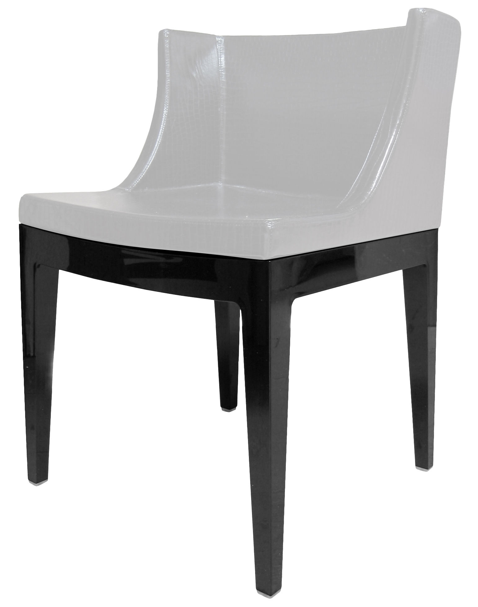 Fauteuil rembourr mademoiselle cocco structure noire kartell - Fauteuil kartell mademoiselle ...