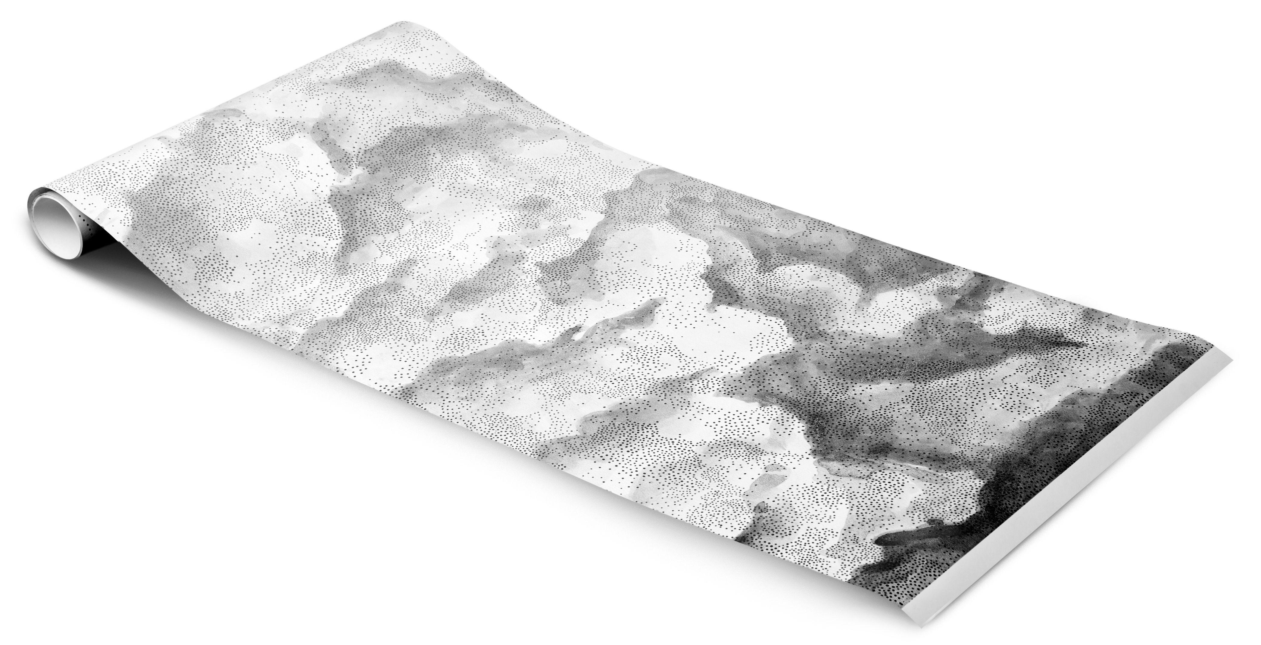 papier peint variation 2 1 rouleau larg 48 cm variation 2 blanc gris petite friture. Black Bedroom Furniture Sets. Home Design Ideas