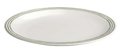 Arts de la table - Assiettes - Assiette à dessert Acquerello Ø 20 cm - A di Alessi - Assiette à dessert / Blanc & vert - Porcelaine Bone China