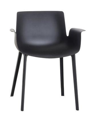 Piuma Sessel / Kunststoff - Kartell - Schwarz