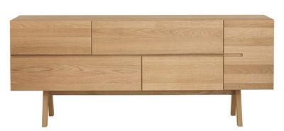 Mobilier - Commodes, buffets & armoires - Buffet Low Atelier / L 174 cm - Zeitraum - Chêne naturel - Chêne massif