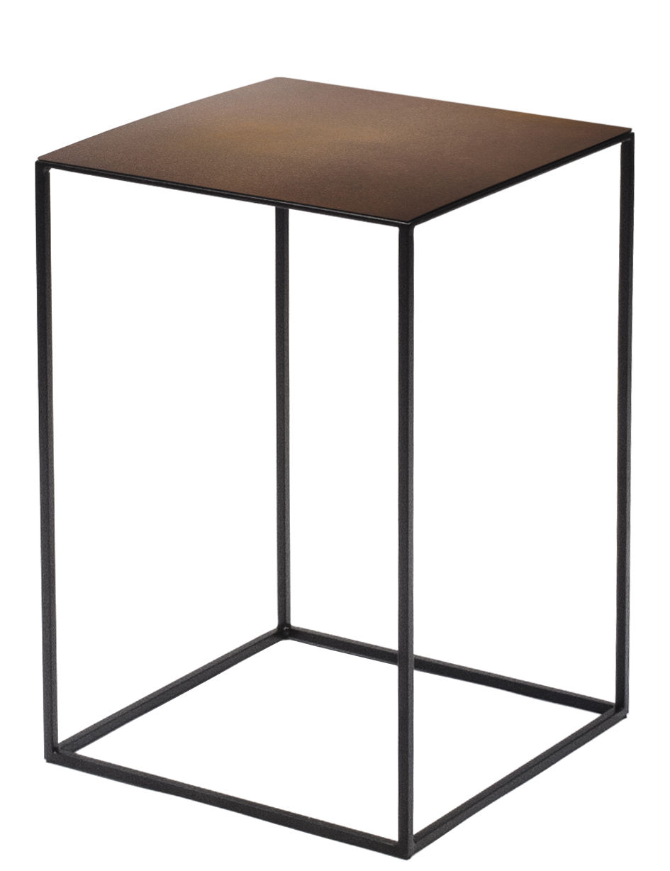 Table basse slim irony 31 x 31 x h 46 cm m tal rouille for Table 6a of gstr 1