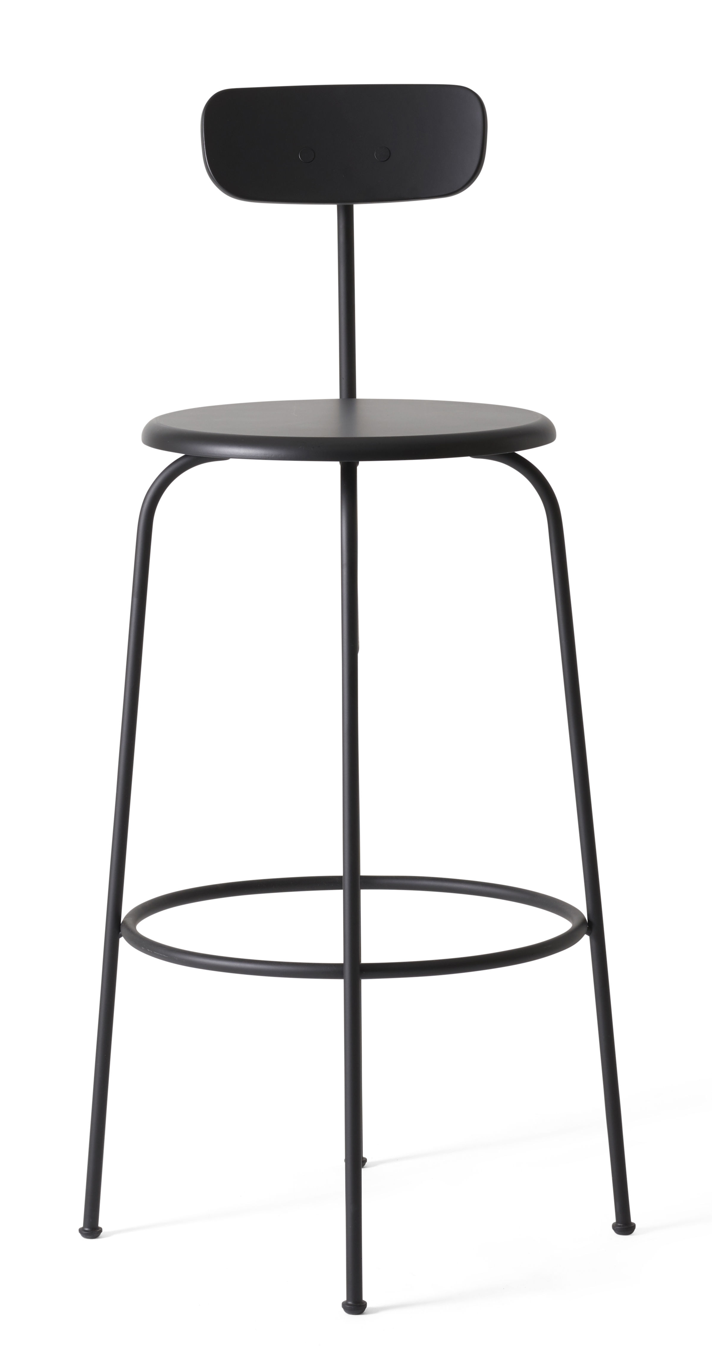 tabouret de bar afteroom assise bois h 75 cm noir menu. Black Bedroom Furniture Sets. Home Design Ideas