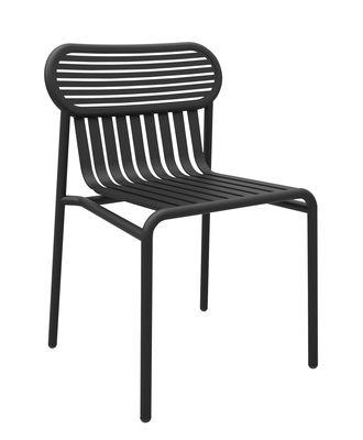 Chaise Week-end / Aluminium - Petite Friture noir en métal