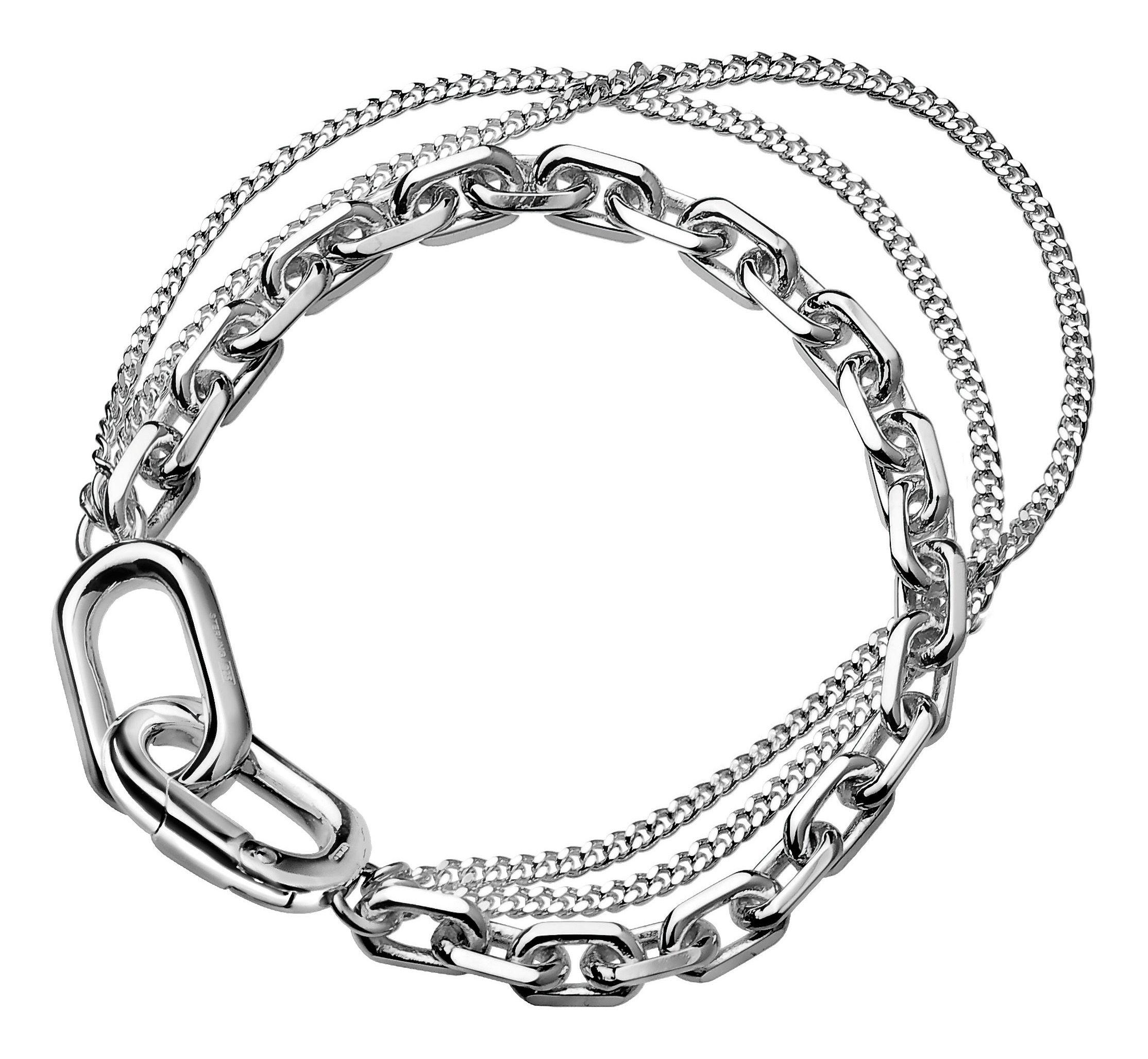 les enchain s 3 rangs bracelet by adeline cacheux small silver bracelet triple by christofle. Black Bedroom Furniture Sets. Home Design Ideas