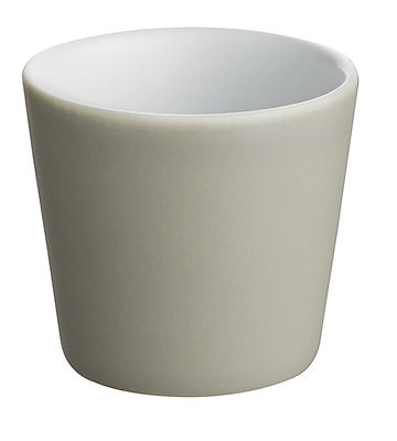 Tavola - Tazze e Boccali - Tazzina da caffè Tonale di Alessi - Grigio chiaro/interno bianco - Ceramica stoneware