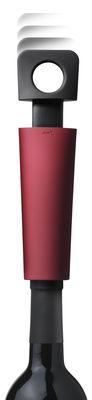 Arts de la table - Bar, vin, apéritif - Pompe à vide d'air Blade + 2 bouchons hermétiques - Menu - Rouge - Caoutchouc, Plastique