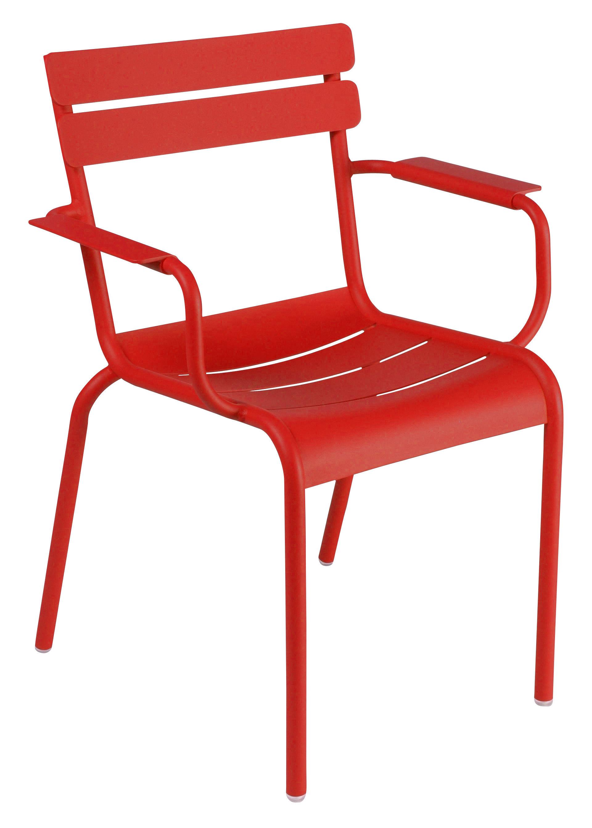 fauteuil empilable luxembourg aluminium coquelicot fermob. Black Bedroom Furniture Sets. Home Design Ideas