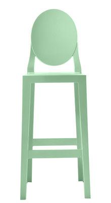 Chaise de bar One more / H 65cm - Plastique - Kartell vert en matière plastique