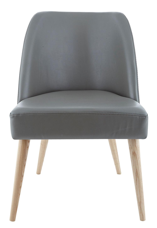 port gepolsterter stuhl kunstleder stuhlbeine aus. Black Bedroom Furniture Sets. Home Design Ideas