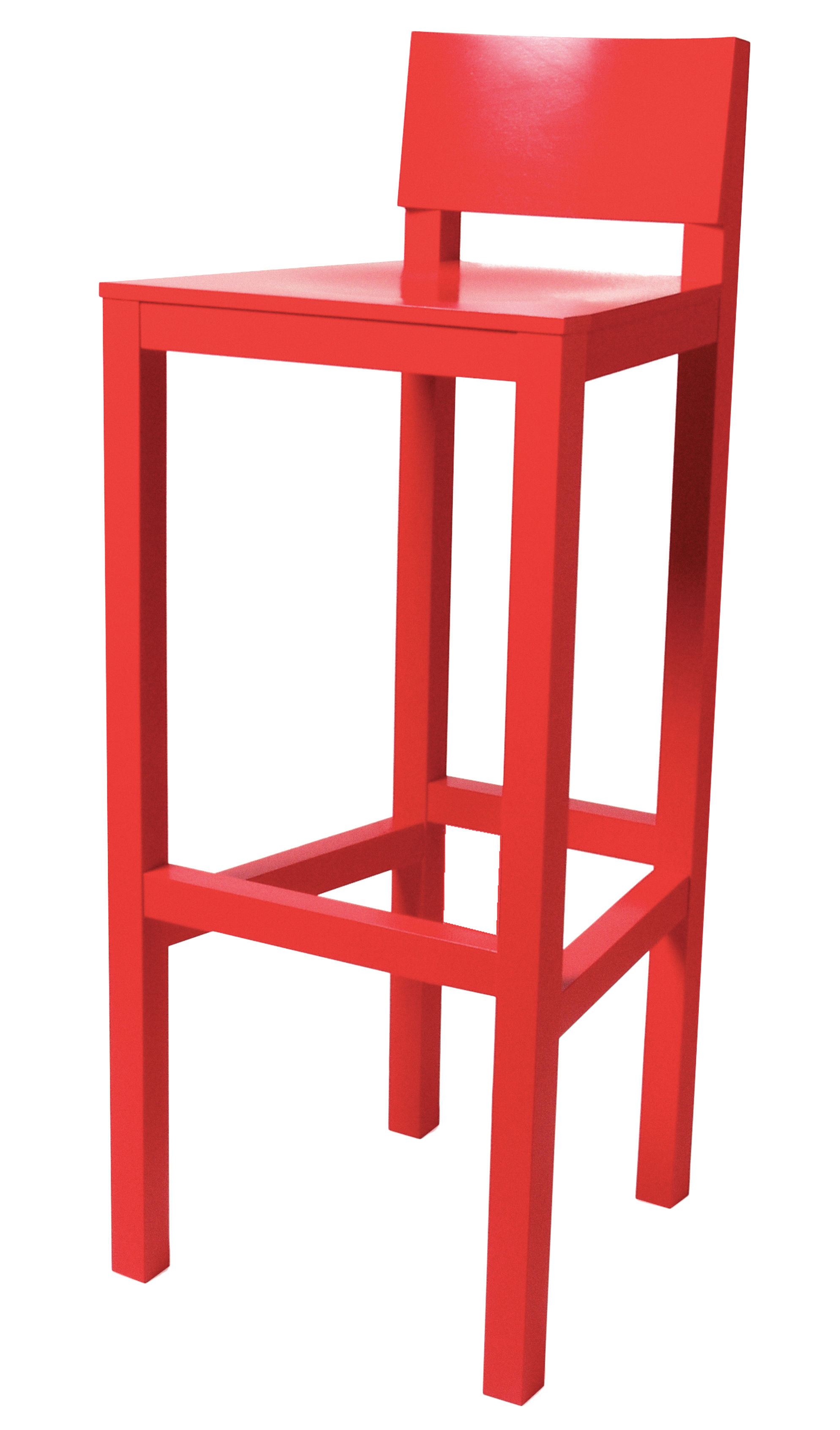 tabouret de bar avl h 80 cm bois rouge moooi. Black Bedroom Furniture Sets. Home Design Ideas