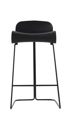 tabouret de bar bcn h 66 cm noir pied noir kristalia. Black Bedroom Furniture Sets. Home Design Ideas