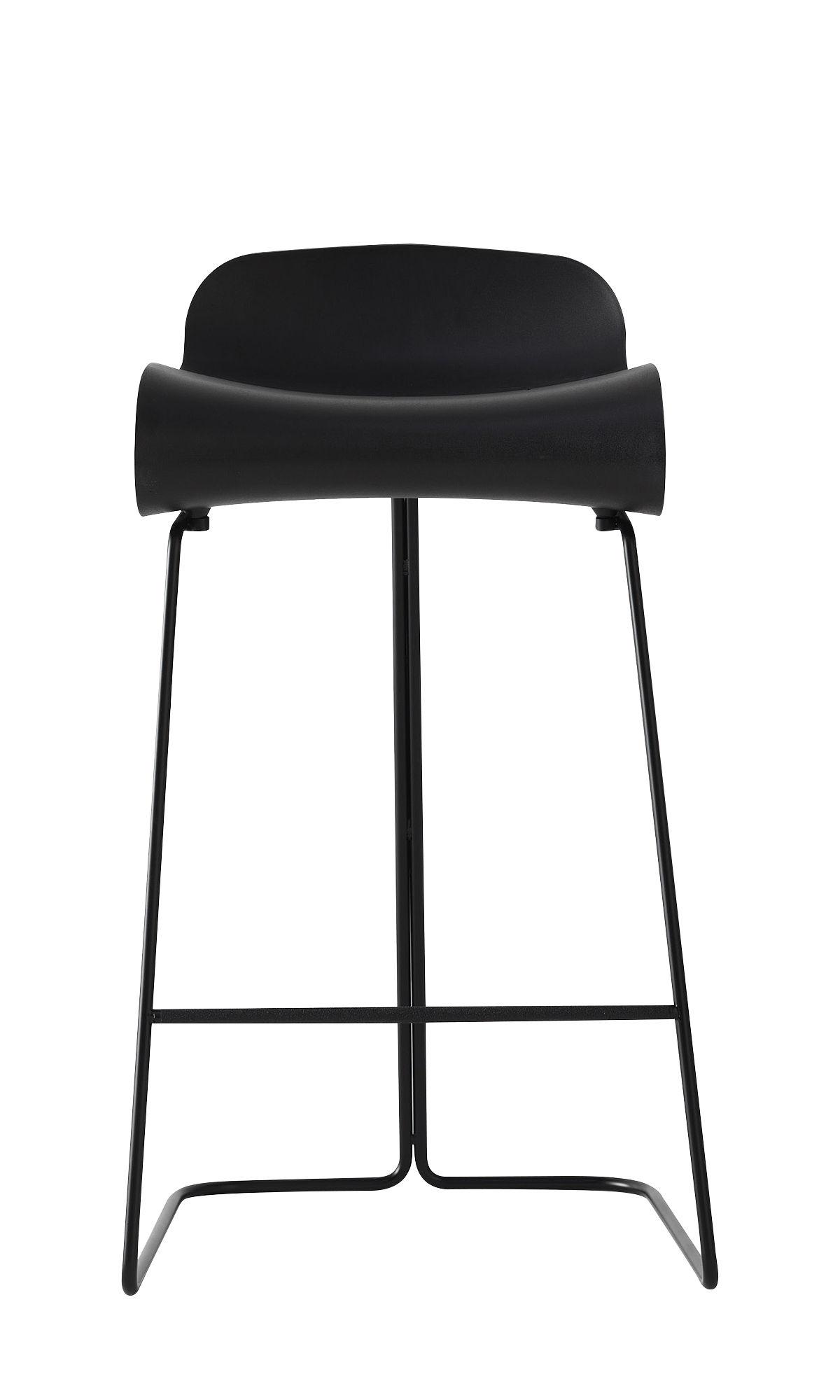 tabouret de bar bcn h 66 cm noir pied noir kristalia. Black Bedroom Furniture Sets. Home Design Ideas