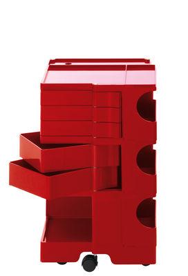 Desserte Boby / H 73 cm - 5 tiroirs - B-LINE rouge en matière plastique