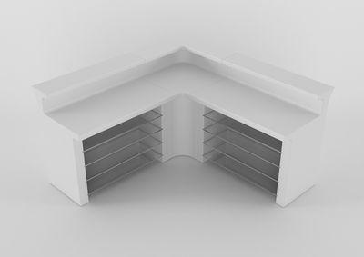 bar lumineux break line module d 39 angle blanc slide. Black Bedroom Furniture Sets. Home Design Ideas