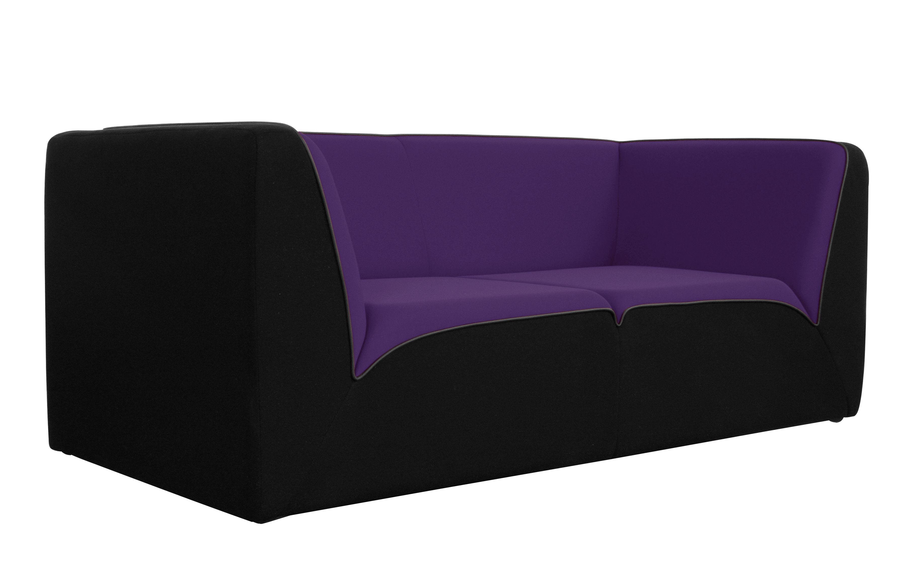 Canap droit e motion by ora ito 3 places l 189 cm noir violet passep - Canape dunlopillo ora ito ...